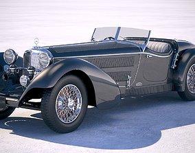 3D Mercedes-Benz SS Roadster 1930 Erdmann Rossi
