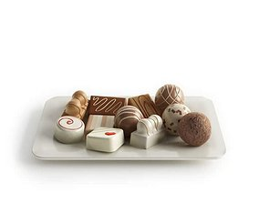 3D model Dark And White Chocolate Candies