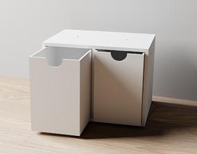 3D printable model 017L LA Unit Large 2 Drawer Vertical