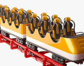 3D model Roller Coaster Train joy