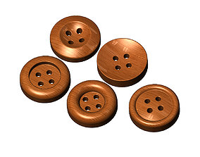 Sewing buttons decorative relief 3D print model