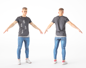 3D model Male casual style with PBR textures 17