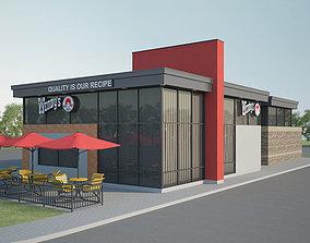 Wendys Restaurant 03 3D model