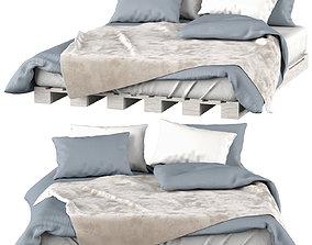Bed 01 Bed on pallet 3D model