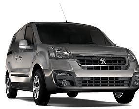 3D Peugeot Partner Van L1 2slidedoors 2017