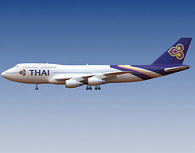 3D Thai Airways Boeing