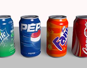Coke Fanta Pepsi Sprite Can 3D model