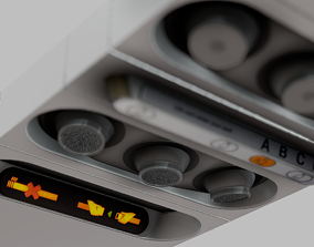 Airbus Airplane Cabin Overhead Panel 3D model