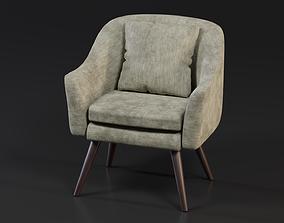 Mid Century Armchair 3D model