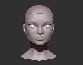 3D model Female head nr 2 base mesh