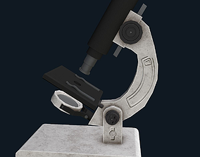 low-poly Microscope 3D model
