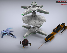 Scifi Space Starterkit Lowpoly 3D model