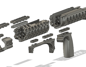 AIRSOFT STRIKEBALL HANDGUARD FOR AK 3D printable model 1