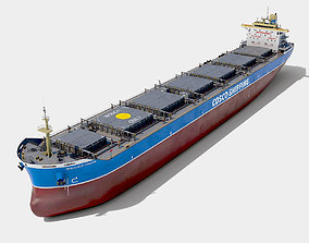 Bulk carrier COSCO with holds and reservoirs 3D model