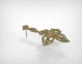 Jewelry Earring Hanging Flower 3D print model