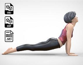 3D print model N2 Woman Doing Yoga Cobra Snake pose