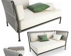 3D model Treble Corner Sofa Unopiu rope
