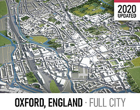 3D asset Oxford- city and surroundings