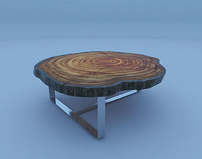 3D model treestump coffeetable