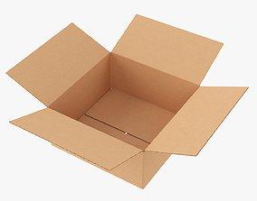 Open box cardboard mockup 02 3D model