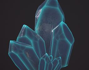 3D asset 1 blue mineral