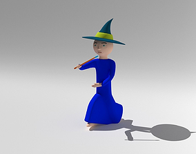 wizard character rigged 3D model