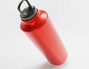 Steel bottle - Flask 3D asset
