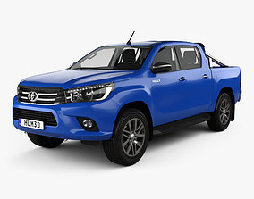3D Toyota Hilux Double Cab SR5 with HQ interior 2015