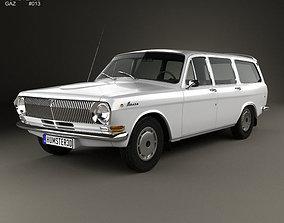 GAZ 24 Volga combi 1967 3D