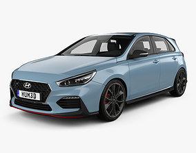 3D model Hyundai i30 N hatchback 2017