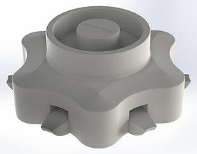 USB Holder in form of hexagonal 3D print model