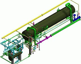 3D Horizontal Inlet Separator Package