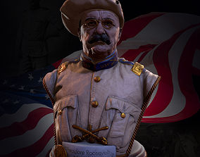 3D printable model Theodore Roosevelt Bust