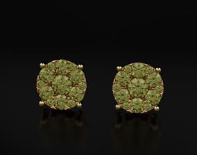 3D print model Earrings with diamonds imitation stone 605