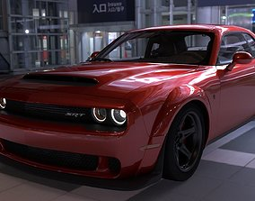 Dodge Challenger Demon 3D asset realtime