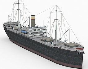 Old Cargo Ship 3D model