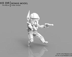 Chibi Old Mandarin Warrior 3D print model