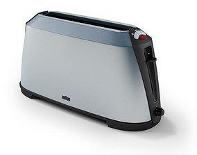 3D Grey Braun Bread Toaster