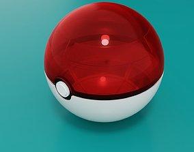 3D asset Transparent pokeball