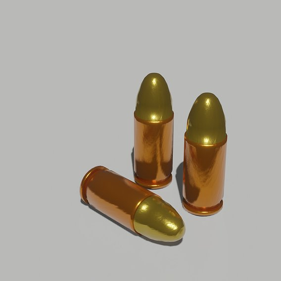 Realistic Low-Poly(game ready) bullets