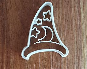 3D print model Wizard hat cookie cutter