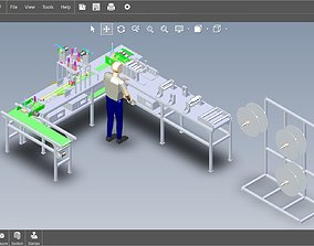 3D model fully automatic -face mask machine 3