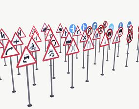 Road Sign Full Pack 3D model