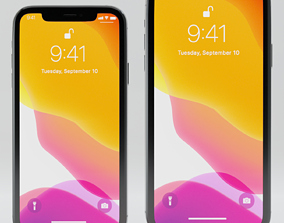 3D model Apple iPhone 11 Pro and iPhone 11 Pro Max