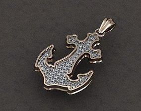 Anchor pendant 3D print model sea