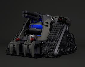 3D model Super tank armed-car