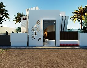 game-ready A 3D model of a modern home