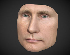 Vladimir Putin mask - Multicolor 3D Printable man