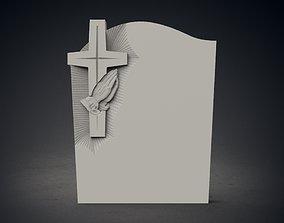 3D model memorial tombstone