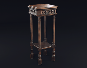 Gothic Stand 3D asset